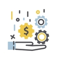 Money in hand icon vector image