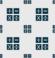 Multiplication division plus minus icon Math vector image