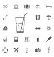 soda icon summer set vector image