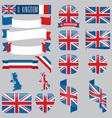 united kingdom flags vector image