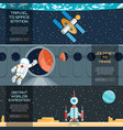web banners set vector image
