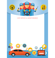 Mechanic and Car Maintenance Service Frame vector image