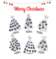 icons Christmas pine vector image