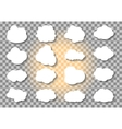 Set of different Cloud and Sun on transparent vector image vector image