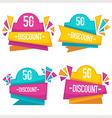 bright discount vector image