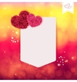 Abstract Valentine or wedding card vector image