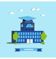City school building in flat vector image