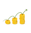 earnings income money concept business vector image