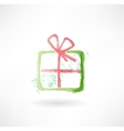 gift grunge icon vector image