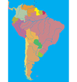 political map of South America vector image