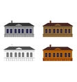 Set of houses in different colours vector image