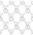 white rabbit seamless background vector image