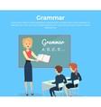 Childrens Grammar Teaching vector image
