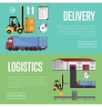 Warehouse process infographics vector image