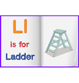A picture of a ladder in a book vector image vector image