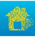 Abstract creative concept icon of house for vector image