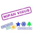 Nipah Virus Rubber Stamp vector image