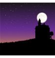 Night sky with castle an moon vector image vector image
