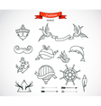 Set of modern Tattoo Art vector image