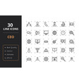 30 ceo line icons vector image