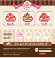 Dessert theme for web template vector image vector image