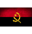 Flags Angola with dirty paper texture vector image