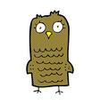 comic cartoon owl vector image