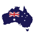 Australia Map Flag vector image