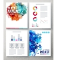 Business Documents with Abstract Graphic Designs vector image
