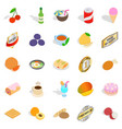drinks icons set isometric style vector image