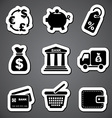 finance sticker label vector image