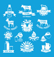 labels set of fresh milk for vector image