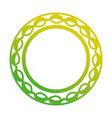 round leaves frame vector image