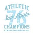 s o paulo sport t-shirt design vector image