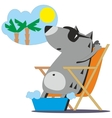 Wolf dreaming about vacation 04 vector image