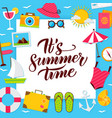 summer time paper concept vector image vector image