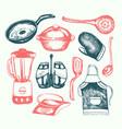 kitchen ware - of vintage vector image vector image