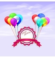 Happy Birthday greeting card with vector image