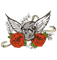 Skull Rose vector image
