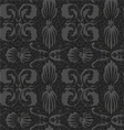 old style black and white seamless background vector image vector image