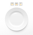 Cutlery object realistic Plate isolated Items vector image