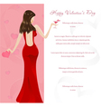 valentines glamour background vector image vector image