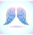 Beautiful cartoon angel wings vector image