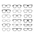 monochrome glasses for sight with a transparent vector image