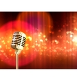 Retro Microphone Vintage Background Poster vector image