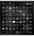 Universal Icons in chalk doodle style vector image