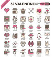 valentine concept icons vector image