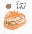 doner kebab kebap vector image