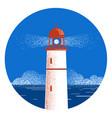 lighthouse seascape logo vector image