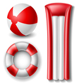 Beach ball and float set vector image vector image